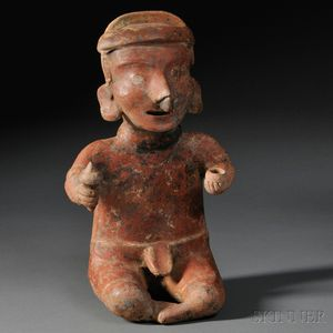 Nayarit Seated Male Figure
