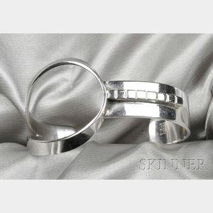 Sterling Silver Cuff Bracelet, Henry Steig