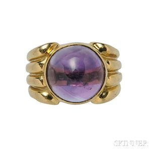18kt Gold and Amethyst Ring, Fred