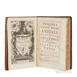 Perrault, Claude (1613-1688) Memoir's for a Natural History of Animals.