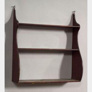 Small Mahogany Whale-end Shelf