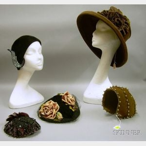 Five Victorian to Modern Lady's Hats