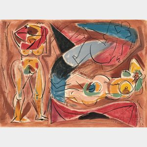 André Masson (French, 1896-1987)      Three Nudes