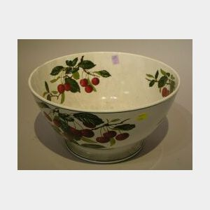 Villeroy & Boch Cherry Decorated Ceramic Punch Bowl.