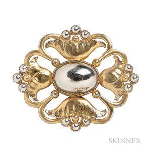Sterling Silver-gilt Brooch, Georg Jensen