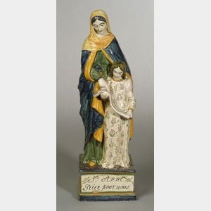 French Faience Figure of St. Anne