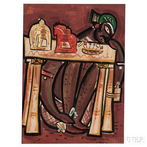 K. Sreenivasulu (1923-1995) Folk Painting