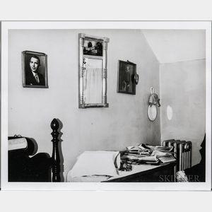 Walker Evans (American, 1903-1975)       Bedroom Interior with Newspapers