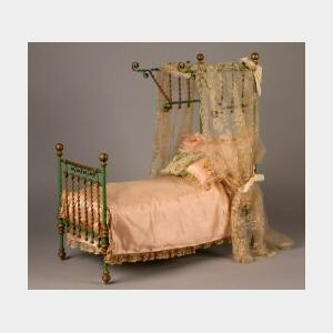Ornate Metal Fashion Doll Bed
