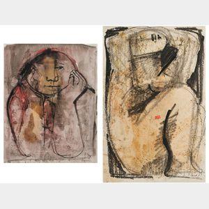 Oreste Dequel (Italian, 1923-1989)      Two Figural Studies.
