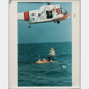 Apollo 9, Splashdown Recovery and Water Egress Training, Eight Photographs.