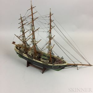 Carved and Painted Wood Ship Model of the Flying Cloud