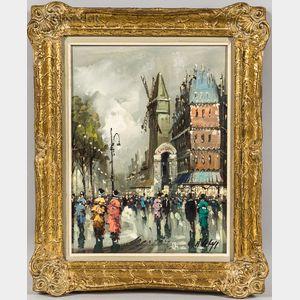 Antonio DeVity (Italian, 1901-1993)      Montmartre