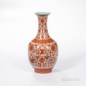 Iron Red-enameled Vase