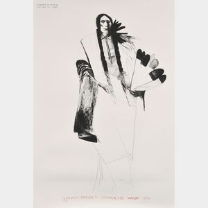Leonard Baskin (American, 1922-2000)      Quanah Parker Comanche