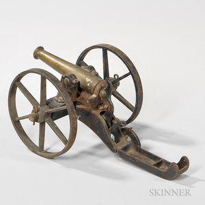 Cast Iron Toy Field Gun