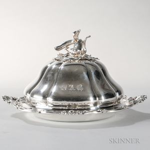 Victorian Sterling Silver Vegetable Dish and Cover