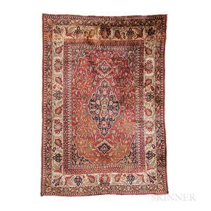 Silk Tabriz-style Rug
