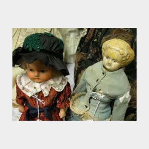 Two Papier Mache Dolls