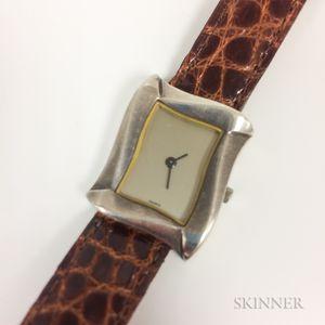 Angela Cummings Sterling Silver Lady's Wristwatch