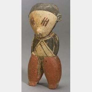 Pre-Columbian Female Pottery Figure