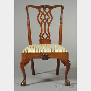 Chippendale-style Philadelphia-type Carved Mahogany Side Chair