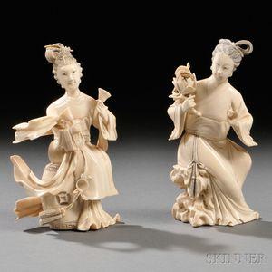 Two Ivory Women