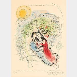 Marc Chagall (Russian/French, 1887-1985)      Le square de Paris