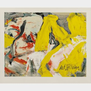 Willem de Kooning (Dutch/American, 1904-1997)      The Man and the Big Blond