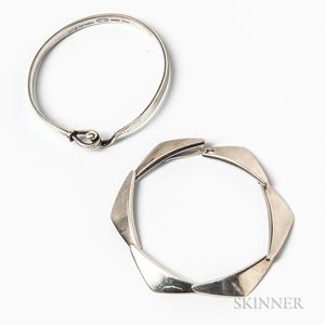 Two Sterling Silver Bracelets, Georg Jensen