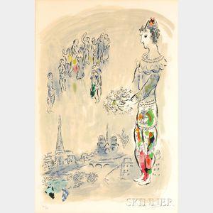 Marc Chagall (Russian/French, 1887-1985)      Le magicien de Paris I