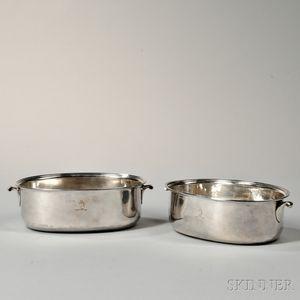 Two George III Sterling Silver Basins
