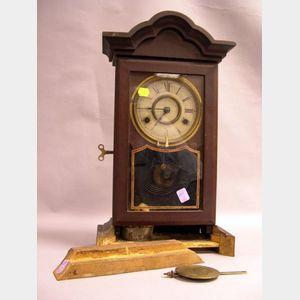 New Haven Clock Co. Victorian Walnut Shelf Clock.