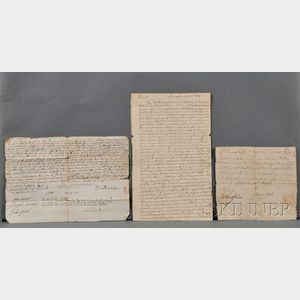 Documents and Letters, American, Six (1717-1813)
