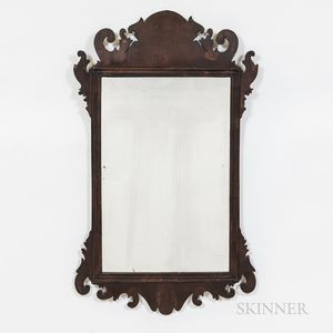 Chippendale-style Mahogany Mirror