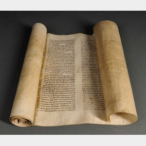 Unusually Large Esther Scroll (Megillah)