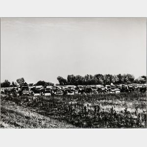 Walker Evans (American, 1903-1975)       Auto Graveyard, Probably Pennsylvania