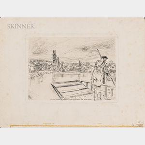 James Abbott McNeill Whistler (American, 1834-1903)      The Punt