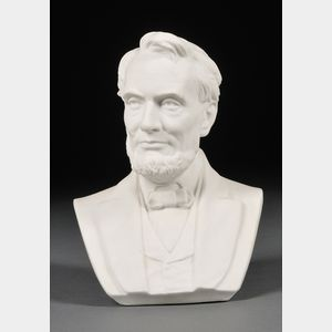 Ott and Brewer Parian Bust of Abraham Lincoln