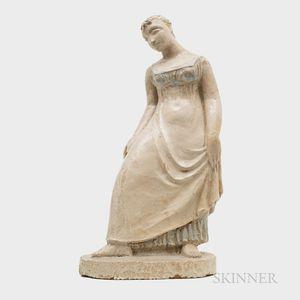 Clivia Calder Morrison (American, 1909-2010) Stoneware Sculpture of a Young Woman