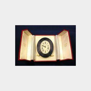 Enamel Desk Clock, Cartier Paris