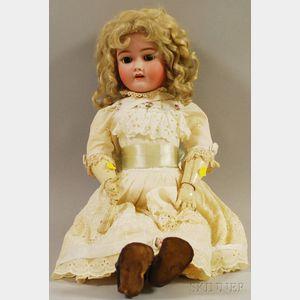 Handwerck German Bisque Head Doll