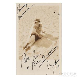Duncan, Isadora (1877-1927) Signed Photograph.