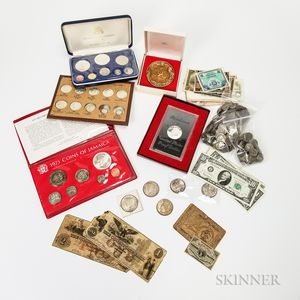 Group of Coins, Commemorative Sets, and Paper Money