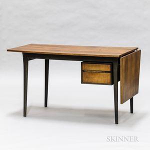 Mid-century Modern Painted and Teak Veneer Desk