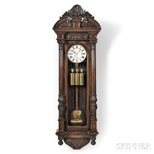 Carved Thirty-day Vienna Regulator Wall Clock