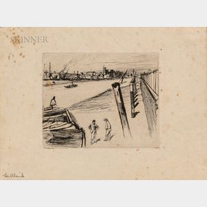 James Abbott McNeill Whistler (American, 1834-1903)      Millbank