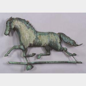 Molded Sheet Copper Running Horse Weather Vane