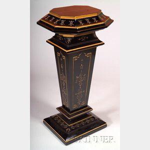 Renaissance Revival Ebony and Parcel-gilt Pedestal