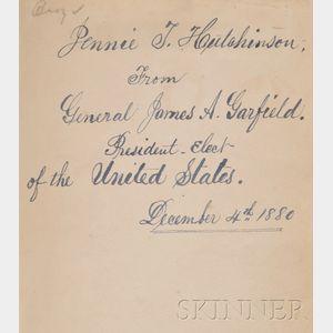 Bundy, Jonas M.  & Garfield, James (1831-1881), Presentation copy
